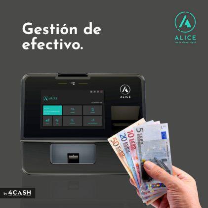 Cajón Inteligente Alice 4Cash- Cajón automático- Cajón Gestión de efectivo- Cajón cobro automático- TPV Y PESAJE MALAGA
