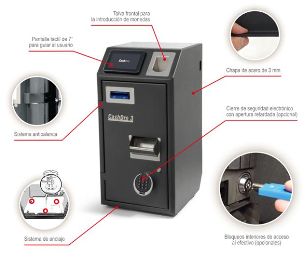 Cajón Inteligente Cashdro3- Cashdro5-Cashdro7- Cajón automático- Cajón Gestión de efectivo- Cajón cobro automático- TPV Y PESAJE MALAGA